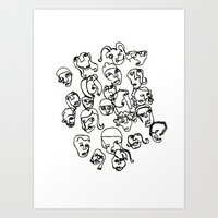 talking heads Art Prints featuring Talking Heads by Melanie Carter