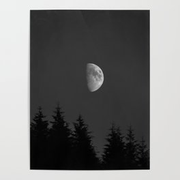 Moon Night Campsite vibes Poster