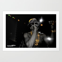BLACK & GOLD: Trinidad James pt.2 Art Print