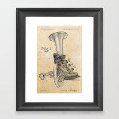 Shoe Horn Reinvention Drawing Framed Art Print