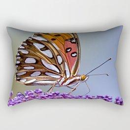Gulf Fritillary Butterfly Rectangular Pillow