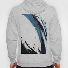 Reykjavik: a pretty and minimal mixed media piece in black, white, and blue Hoody