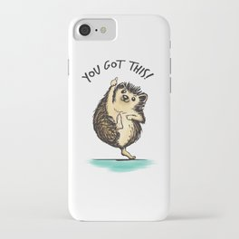Motivational Hedgehog iPhone Case