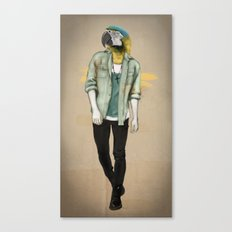 I was a Parrot before it was Cool Canvas Print
