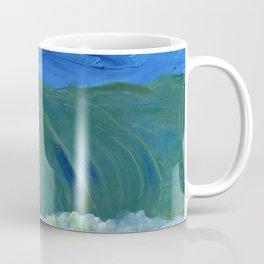 Wave Finger Painting Coffee Mug