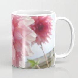 Pretty Pink Dahlia Ruffles Coffee Mug