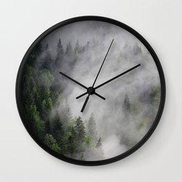 Pines Mask Wall Clock