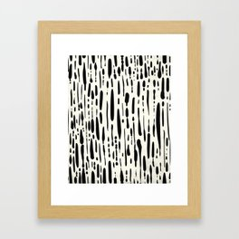 Abstract Stripes in Cream and Black III Framed Art Print