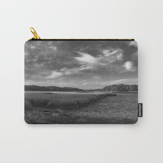 Sky and Marsh Black and white Carry-All Pouch