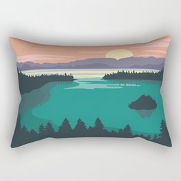 Emerald Bay Lake Tahoe Rectangular Pillow