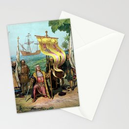 Columbus Taking Possession Of The New Country Stationery Cards