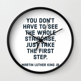 You don't have to see the whole staircase Wall Clock