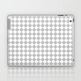 Small Diamonds - White and Silver Gray Laptop & iPad Skin