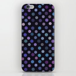 Retro Colored Dots Material iPhone Skin