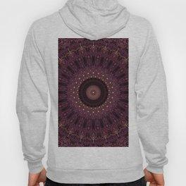 Mandala in dark purple and golden colors Hoody