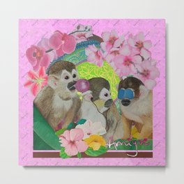 wise monkeys 3.0 Metal Print