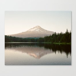 Mt. Hood reflecting in Trillium Lake Canvas Print