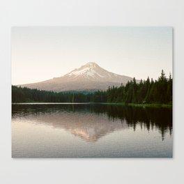 Mt. Hood reflecting in Trillium Lake Canvas Print