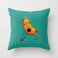 playing with music Throw Pillow