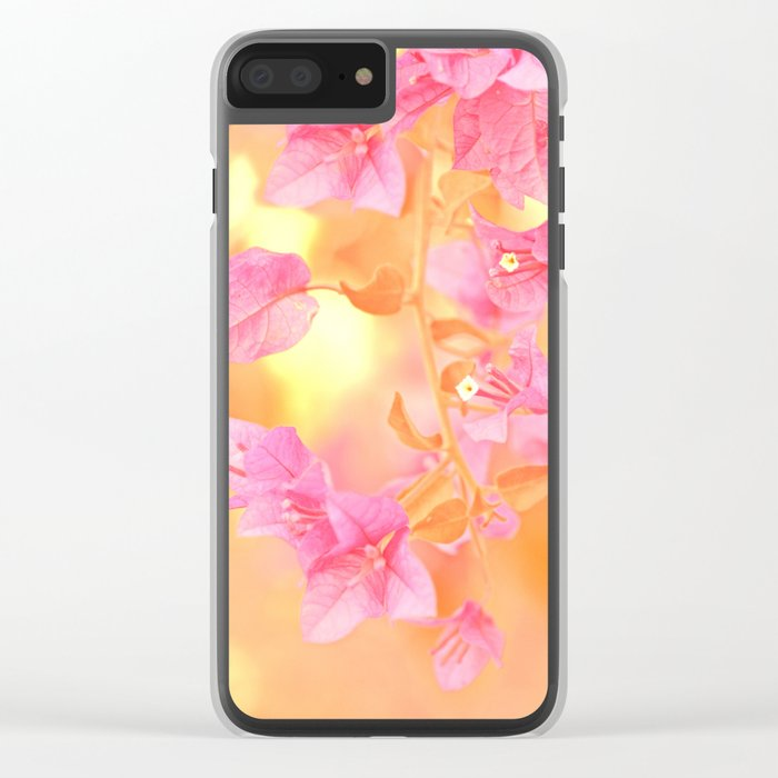Sunny Bougainville(4) Clear iPhone Case