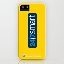 24/7 SMART in yellow iPhone Case