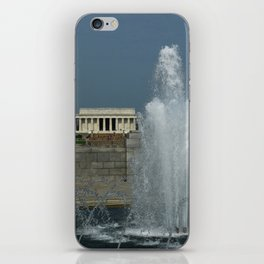 Memorial Fountain  And Lincoln Memorial iPhone Skin