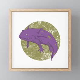 Axolotl Gothic Goth Water Aquarium Pet Animal Gift Framed Mini Art Print