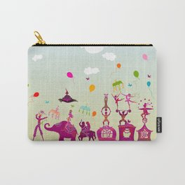 colorful circus carnival traveling in one row during daylight Carry-All Pouch