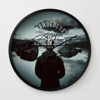 wanderlust Wall Clocks featuring Wanderlust by UtArt