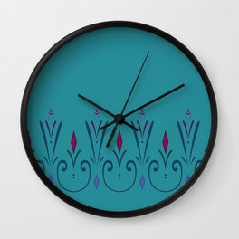 Elsa coronation dress pattern (skirt) Wall Clock