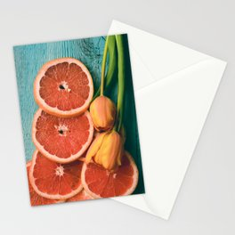 Grapefruit and Tulips Stationery Cards
