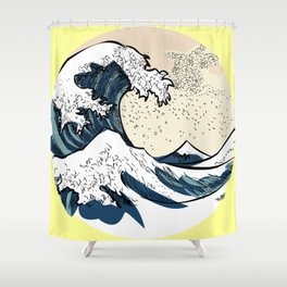 japan manga sea hokusai Shower Curtain
