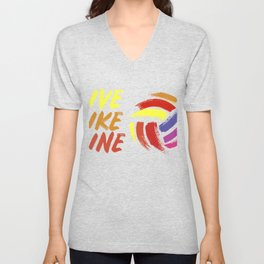 Live Like Line Volleyball graphic, Volleyball Tee, Sports Tee Unisex V-Neck