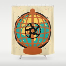 World imprisoned in the chaos of himself Shower Curtain