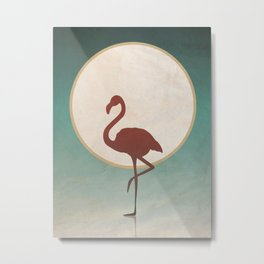 Flamingo Nights Summer Metal Print