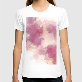 Mauve Dusk Abstract Cloud Design T-shirt