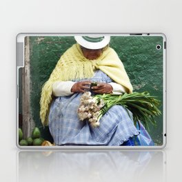 Vegetable and Fruit vendor, Cuenca, Ecuador Laptop & iPad Skin