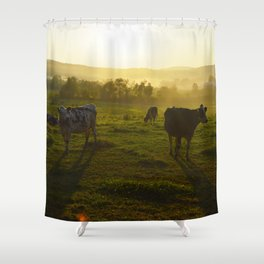 Cows at Sunset Shower Curtain
