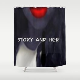 Story and Her Merchandise Shower Curtain