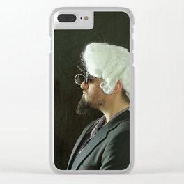 Rococo Portrait Clear iPhone Case