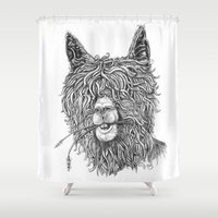 hollywood Shower Curtains featuring Hollywood Smile by Peerless Designs Art