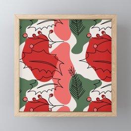 Christmas Holly Berries Framed Mini Art Print