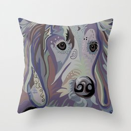 Retriever Denim Tones Throw Pillow