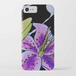 Purple tie dye flower iPhone Case