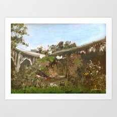 Pasadena Arroyo Bridges Art Print