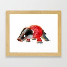 Cosy Badger Framed Art Print