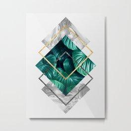 Plant collage X Metal Print