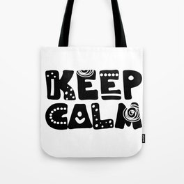 Keep calm lettering Tote Bag