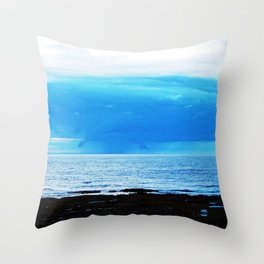 Storm Funnels Above the Sea Throw Pillow
