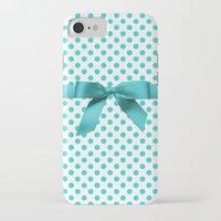 polkadot iPhone & iPod Cases featuring Blue Tiffany Polkadot by albert Junior